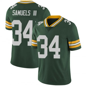 Youth Nike Green Bay Packers Stanford Samuels III Green Team Color Vapor Untouchable Jersey - Limited