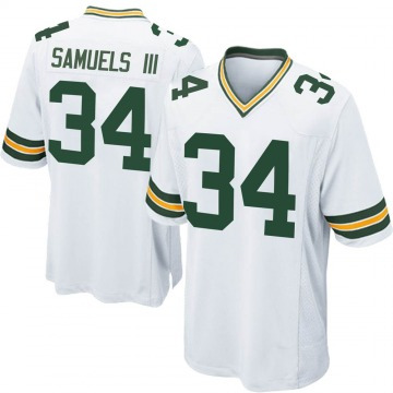 Youth Nike Green Bay Packers Stanford Samuels III White Jersey - Game