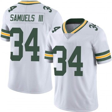 Youth Nike Green Bay Packers Stanford Samuels III White Vapor Untouchable Jersey - Limited