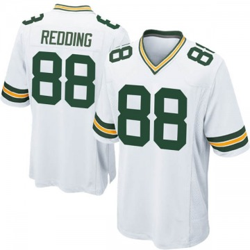 Youth Nike Green Bay Packers Teo Redding White Jersey - Game