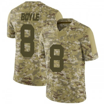 Youth Nike Green Bay Packers Tim Boyle Camo 2018 Salute to Service Jersey - Limited