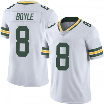 Youth Nike Green Bay Packers Tim Boyle White Vapor Untouchable Jersey - Limited