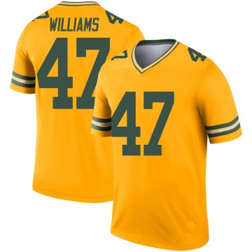 Youth Nike Green Bay Packers Tim Williams Gold Inverted Jersey - Legend
