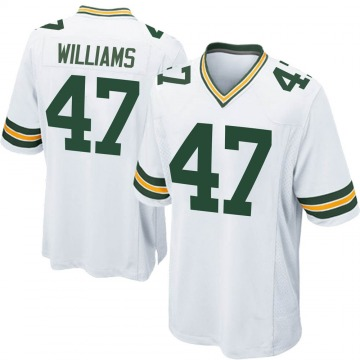 Youth Nike Green Bay Packers Tim Williams White Jersey - Game