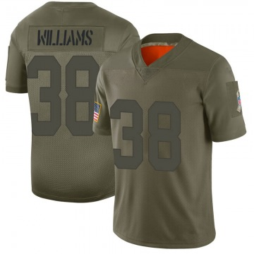 Youth Nike Green Bay Packers Tramon Williams Camo 2019 Salute to Service Jersey - Limited