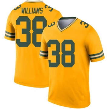 Youth Nike Green Bay Packers Tramon Williams Gold Inverted Jersey - Legend