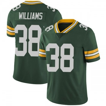 Youth Nike Green Bay Packers Tramon Williams Green Team Color Vapor Untouchable Jersey - Limited