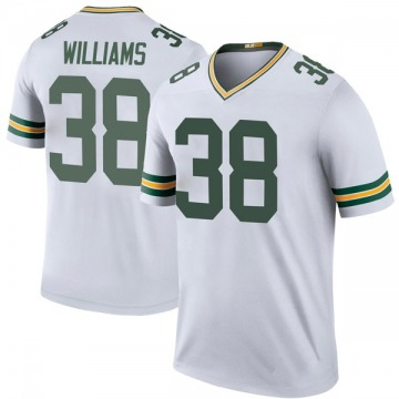 Youth Nike Green Bay Packers Tramon Williams White Color Rush Jersey - Legend