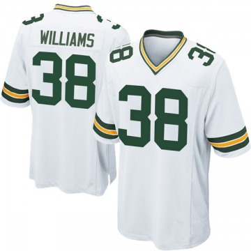 Youth Nike Green Bay Packers Tramon Williams White Jersey - Game