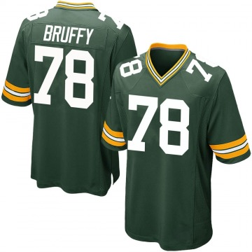 Youth Nike Green Bay Packers Travis Bruffy Green Team Color Jersey - Game