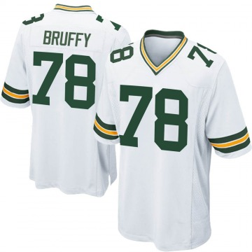 Youth Nike Green Bay Packers Travis Bruffy White Jersey - Game
