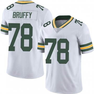 Youth Nike Green Bay Packers Travis Bruffy White Vapor Untouchable Jersey - Limited
