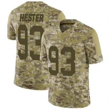 Youth Nike Green Bay Packers Treyvon Hester Camo 2018 Salute to Service Jersey - Limited