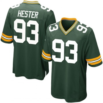 Youth Nike Green Bay Packers Treyvon Hester Green Team Color Jersey - Game