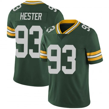 Youth Nike Green Bay Packers Treyvon Hester Green Team Color Vapor Untouchable Jersey - Limited