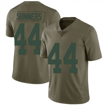Youth Nike Green Bay Packers Ty Summers Green 2017 Salute to Service Jersey - Limited