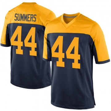 Youth Nike Green Bay Packers Ty Summers Navy Alternate Jersey - Game