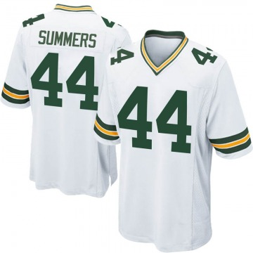 Youth Nike Green Bay Packers Ty Summers White Jersey - Game
