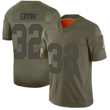 Youth Nike Green Bay Packers Tyler Ervin Camo 2019 Salute to Service Jersey - Limited