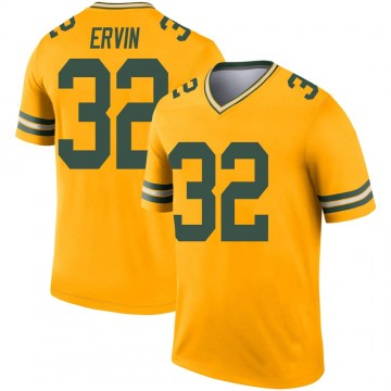Youth Nike Green Bay Packers Tyler Ervin Gold Inverted Jersey - Legend