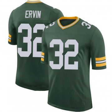 Youth Nike Green Bay Packers Tyler Ervin Green 100th Vapor Jersey - Limited