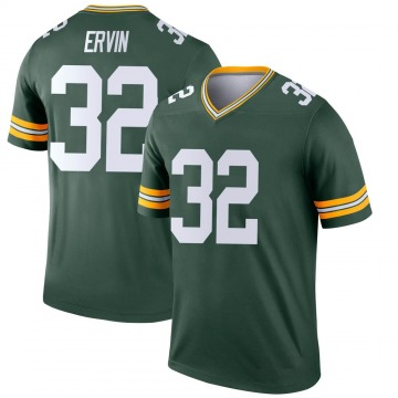 Youth Nike Green Bay Packers Tyler Ervin Green Jersey - Legend