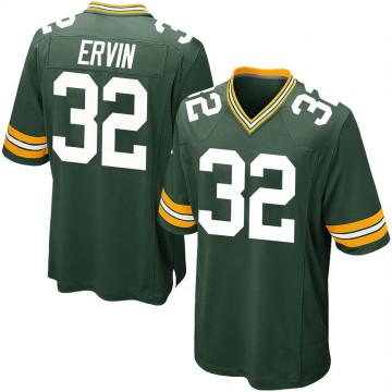 Youth Nike Green Bay Packers Tyler Ervin Green Team Color Jersey - Game