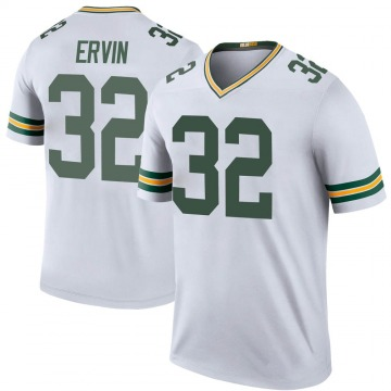 Youth Nike Green Bay Packers Tyler Ervin White Color Rush Jersey - Legend