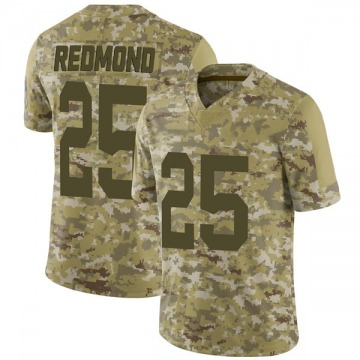 Youth Nike Green Bay Packers Will Redmond Red Camo 2018 Salute to Service Jersey - Limited