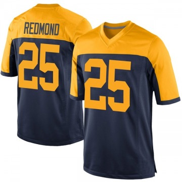 Youth Nike Green Bay Packers Will Redmond Red Navy Alternate Jersey - Game