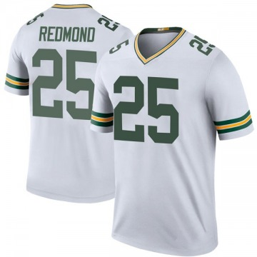 Youth Nike Green Bay Packers Will Redmond White Color Rush Jersey - Legend