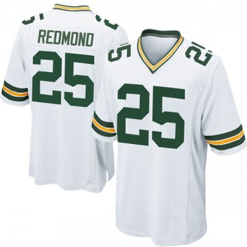 Youth Nike Green Bay Packers Will Redmond White Jersey - Game
