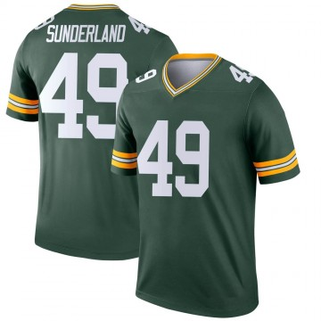 Youth Nike Green Bay Packers Will Sunderland Green Jersey - Legend