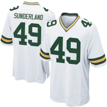 Youth Nike Green Bay Packers Will Sunderland White Jersey - Game