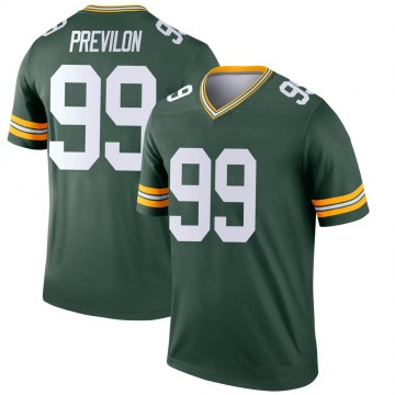 Youth Nike Green Bay Packers Willington Previlon Green Jersey - Legend