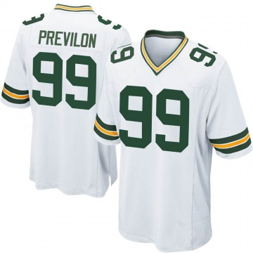 Youth Nike Green Bay Packers Willington Previlon White Jersey - Game