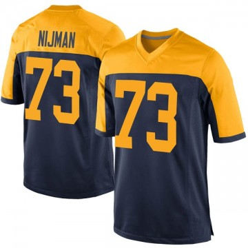 Youth Nike Green Bay Packers Yosh Nijman Navy Alternate Jersey - Game