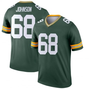 Youth Nike Green Bay Packers Zack Johnson Green Jersey - Legend