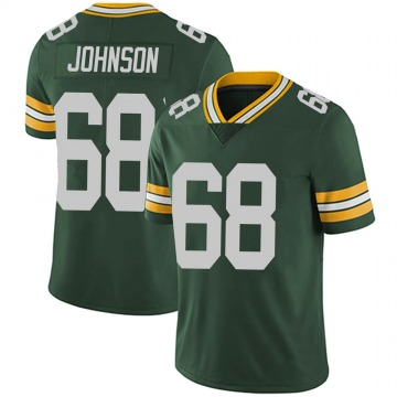 Youth Nike Green Bay Packers Zack Johnson Green Team Color Vapor Untouchable Jersey - Limited