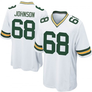 Youth Nike Green Bay Packers Zack Johnson White Jersey - Game
